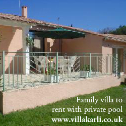 Family villa to rent